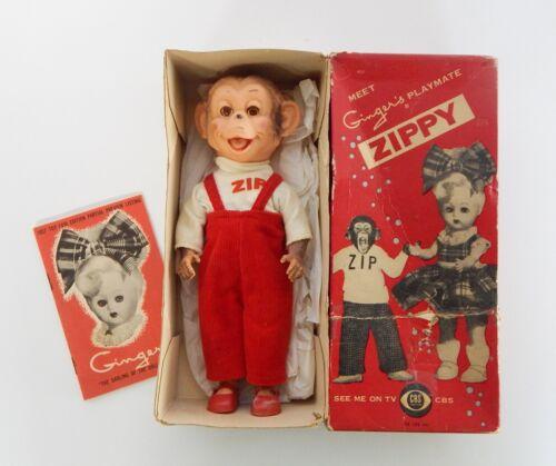 1957 Zippy Vinyl Monkey Doll by Cosmopolitan Ginger's Playmate in Original BOX