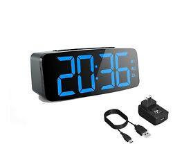 CANY Dual Alarm Clock with Large 6.3 Inch LED Display