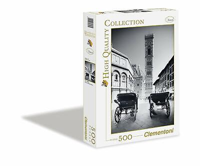 CLEMENTONI - 30347 - PUZZLE HIGH QUALITY - TRAVEL - FLORENCE NOIR&BLANC 500pcs