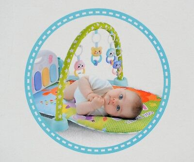 5 in 1 Baby Gym Play Mat Lay & Play Fitness Music And Lights Fun Piano Boy Girl