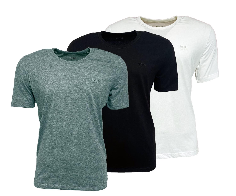 3-er Hugo Boss Herren T-Shirts Baumwolle im Dreier-Pack Basic Shirt M L XL