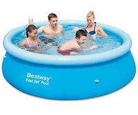 8ft Bestway Fast Set Family Pool Swimming Pool Paddling Pool Garden Fun - bestway - ebay.co.uk