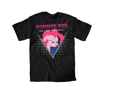 My Little Pony Pinkie Pie Does What She Wants Black Men's Graphic T-Shirt New](My Little Pony Shirts)