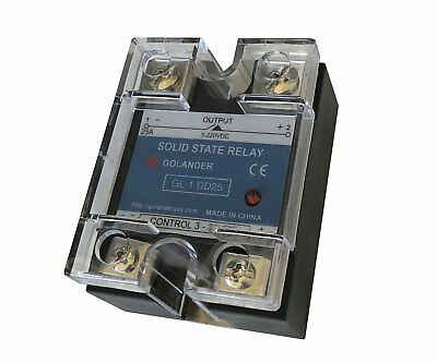 25a Dc To Dc Solid State Relay Ssr  Clear Cover