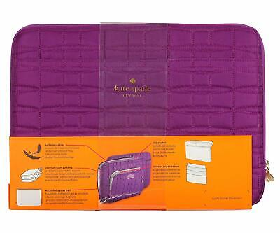 KATE SPADE MacBook pro 15'' Laptop tablet Case Bag Quilted Nylon Purple Designer