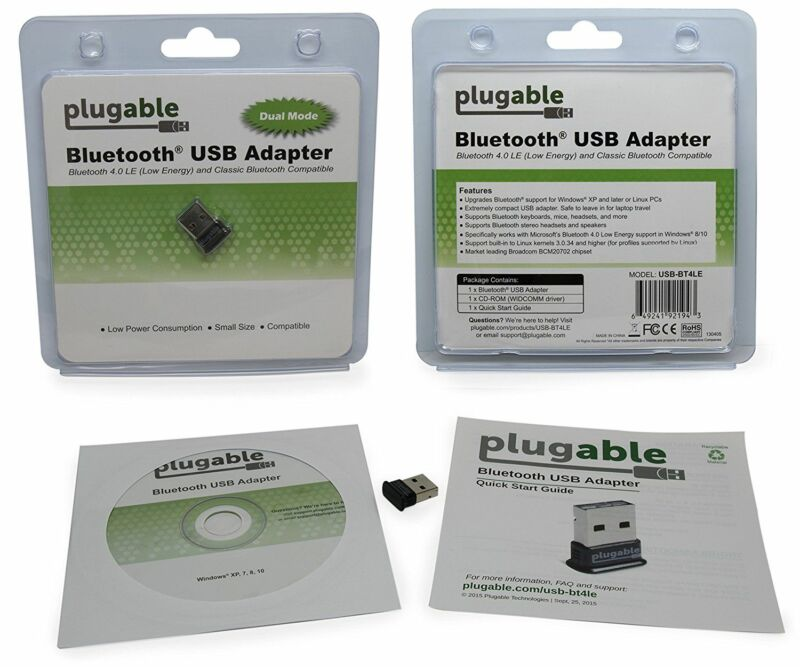 Plugable Usb Bluetooth 4.0 Low Energy Micro Adapter (Windows 10, 8.1, 8, 7, Raspberry Pi, Linux Compatible; Classic Bluetooth, & Stereo Headset Compatible) 9