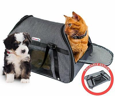 DreamyPup Best Soft Pet Carrier for Small Dogs and Cats Airline Approved Bag |