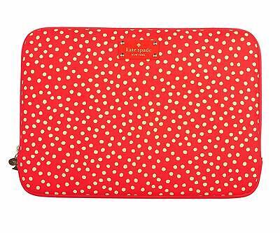 "Brand New Kate Spade 13"" Red Polka Dot Laptop Sleeve *** RRP £75.00 ***"