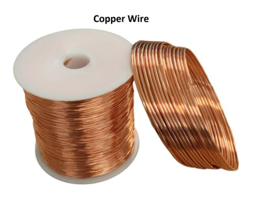 Bare Copper Wire 8,10,12,14,16,18,20,22,24,26,28,30 Ga (Dead Soft) Choose Gauge