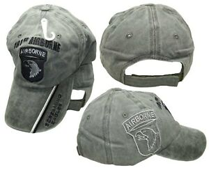 101st Airborne Screaming Eagles Olive Stone Shadow Embroidered Cap Hat (Cotton)