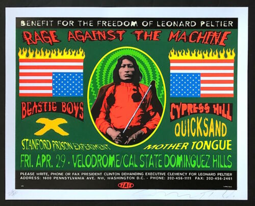 MINT & SIGNED Rage Against The Machine Beastie Boys 1993 TAZ Poster 134/400