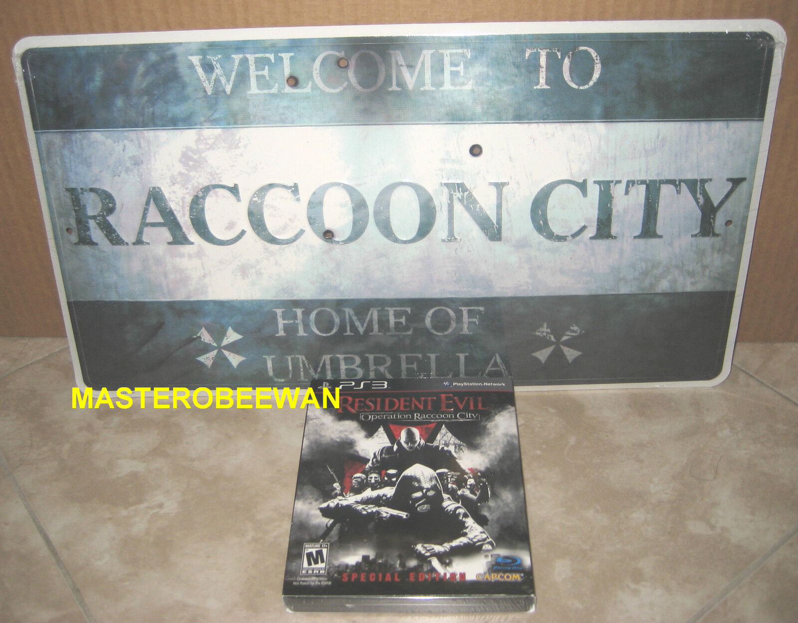 Ps3 Resident Evil Operation Raccoon City Special Edition Sealed + Bonus Sign