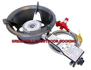 Rambo Safety High Pressure Gas Wok Burner 55MJ HPA100LPB Free Regulator & Hose