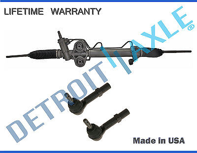 NEW Power Steering Rack & Pinion + 2 Outer Tie Rod for Chevy GMC Cadillac