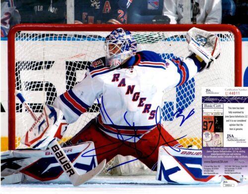 Henrik Lundqvist Signed 11x14 Photo w/ JSA COA #U44011 New York Rangers NY