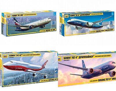 ZVEZDA BOEING Civil Jet Airliners Plastic Model Kits Scale 1:144