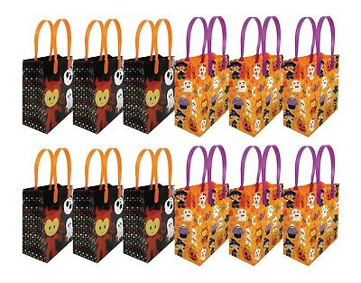 Halloween Party Favor Bags  Treat Bags, 12 pack