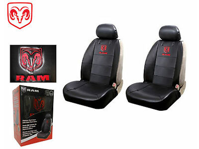 Dodge Ram Front Syn Leather Seat Covers W/Logo Fits All Dodge Rams 1994-2016