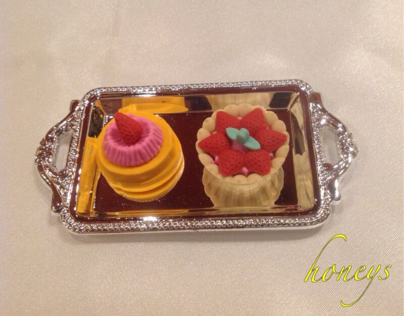 For American Girl Dolls Mini Food Pretend Play TRAY ASSORTMENT OF FRENCH DESSERT