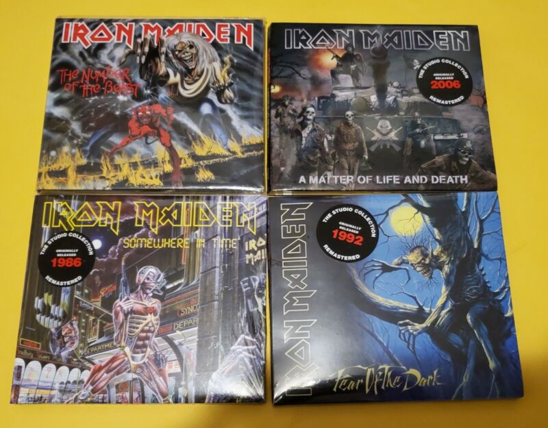 IRON MAIDEN lot of 4 digipack  cds  the studio remasters,  Number of the Beast