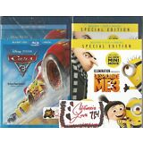 DESPICABLE ME 3 + CARS 3 BLU-RAY + DVD 2-MOVIE COMBO 4-DISC SET✔MINT✔ NO DIGITAL