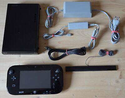 Wii U - Nintendo Wii U Konsole Schwarz mit Wii U GamePad (guter Zustand) ()