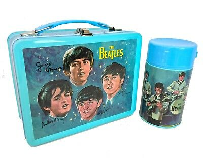 The Beatles Signatures Retro Style Metal Lunch - Metal Lunchbox