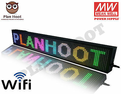 40x8 Led Scrolling Sign - Wifi Rgb 7 Colors For Semi Outdoor And Indoor Use