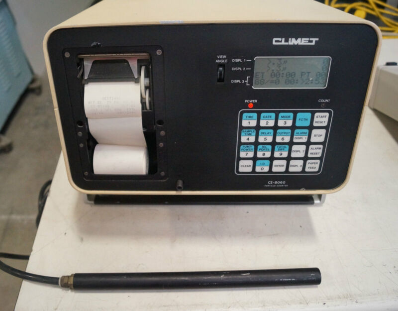 CLIMET CI-8060 ENHANCED PARTICLE COUNTER WITH PROBE