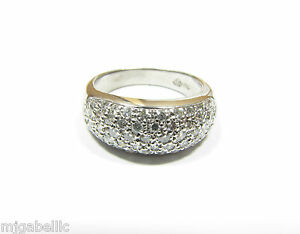 *NEW* 18k White Gold 1.00ctw PAVE SET DIAMOND RING *NEW* FREE & FAST SHIP