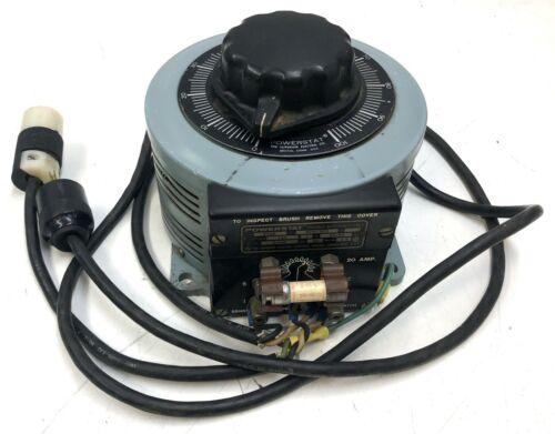 POWERSTAT VARIABLE AUTOTRANSFORMER F136 BP57500 LABORATORY VARIAC INDUSTRIAL
