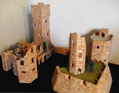 Romantische Burgruine Burg Schloß 60er Jahre Handmade Sammlerstück Unikat selten