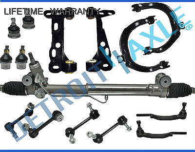 15pc Complete Power Steering Rack and Pinion Suspension Kit for Chevy GMC 16 mm