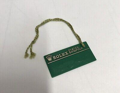 ROLEX Vintage Green Tag Hangtag Oyster Swimpruf U429038 Explorer 14270 Original