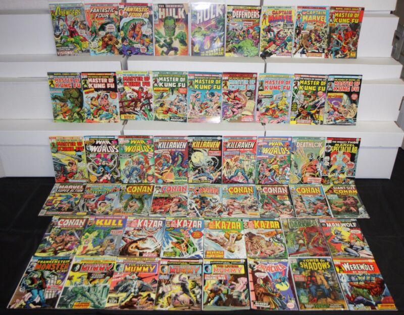 Vintage Marvel Bronze Age SUPERHERO & HORROR TITLES 52pc Low to Mid Comic Lot