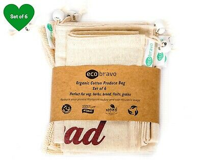 Eco-friendly Reusable Produce Bags Cotton Mesh Bags for Grocery Vegetable Fruits