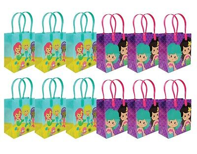 Mermaid Party Favor Bags Treat Bags, 12 Pack