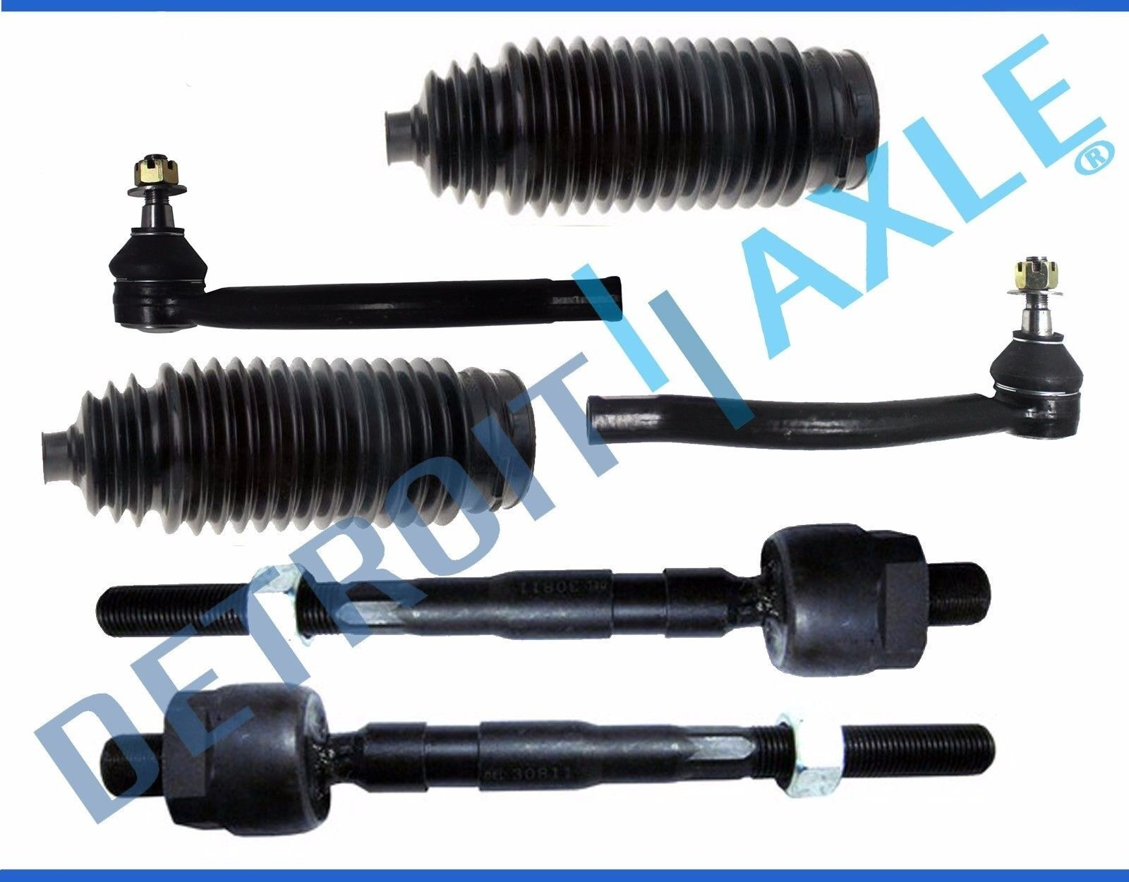 Inner Outer Tie Rod End w/Boot Honda Civic 2006 2007 2008 2009 2010 2011 Non-Si