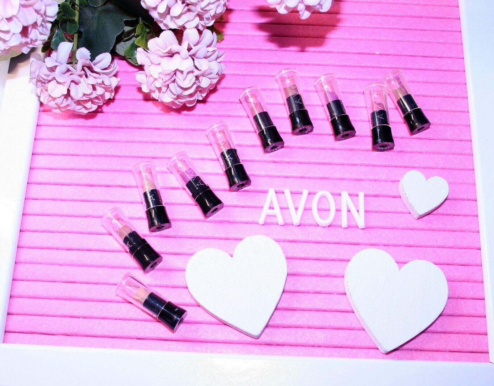 10 Mini Avon Lippenstifte Gemischt  Lippenstift Kosmetik Probe Schminke