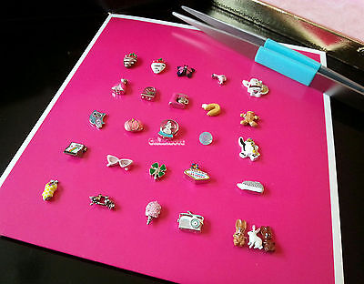 Origami Owl Rare & HTF Charms: Pink Sunglasses and Mixer, Coral Pumpkin + more - Owl Pumpkin