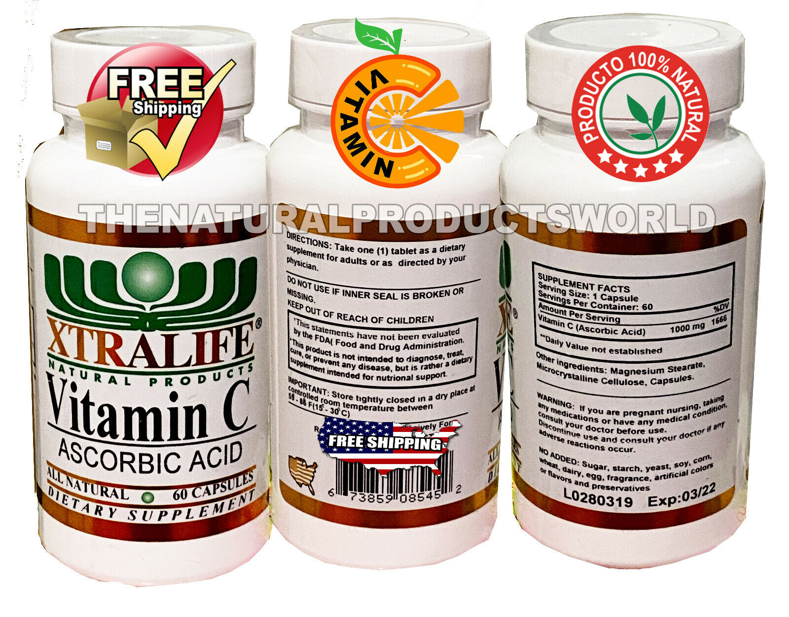 Pure Vitamin C 1,000MG Support Healthy Immune System, Antioxidant, 1 Pack