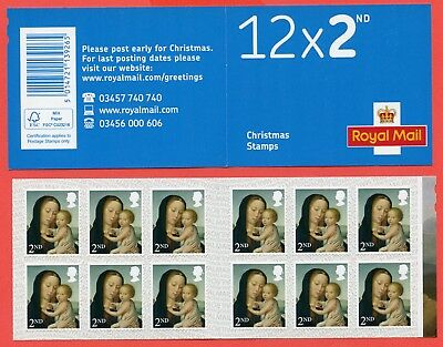 LX53 2017 12 x 2nd Madonna & Child Christmas Self Adhesive Booklet.