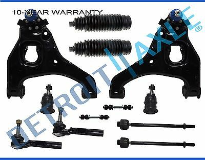 Silverado 1500 Sierra 2WD Front Lower Control Arm Ball Joint Tierod 12p kit