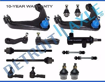 13p Front Upper Control Arm Tierod Ball Joint Idler 3-Grv Pitman Arm 8-Lug