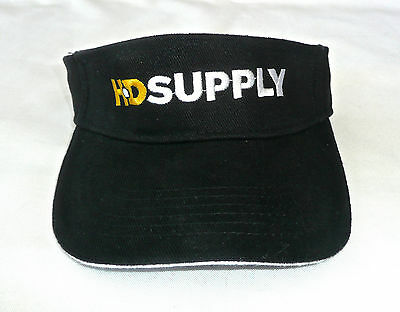 Hd Supply Black Adjustable Visor 100  Cotton  New Without Tags
