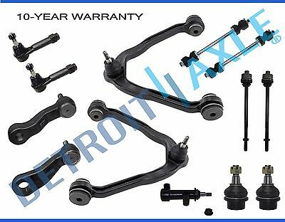 13pc Control Arm Sway Bar Tie Rod Idler Kit for Chevrolet GMC Trucks 4x4 6 Lug