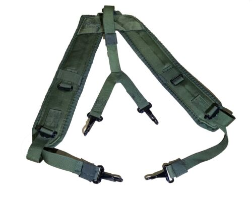 US Military Alice Y SUSPENDERS LBE LC-1 Load Bearing Shoulder Web Harness OD VG