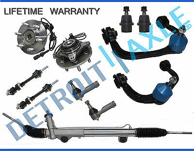 11pc Complete Rack and Pinion Assembly Suspension Kit 2004-2008 Ford F-150 - 4x4