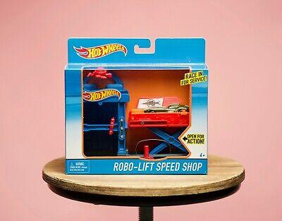 NIB Mattel Hot Wheels Robo-Lift Speed Shop w/ Car Limited Edition Play Set Multi
