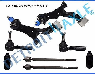 Both 2 Brand New Lower Control Arms  Ball Joints  All 6 Tie Rods  Boots